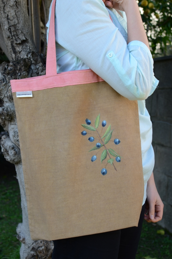 Shopper mirto e robbia/ Tote bag myrtle and madder